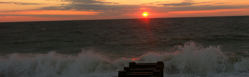 Sunrise along the Delaware Coast